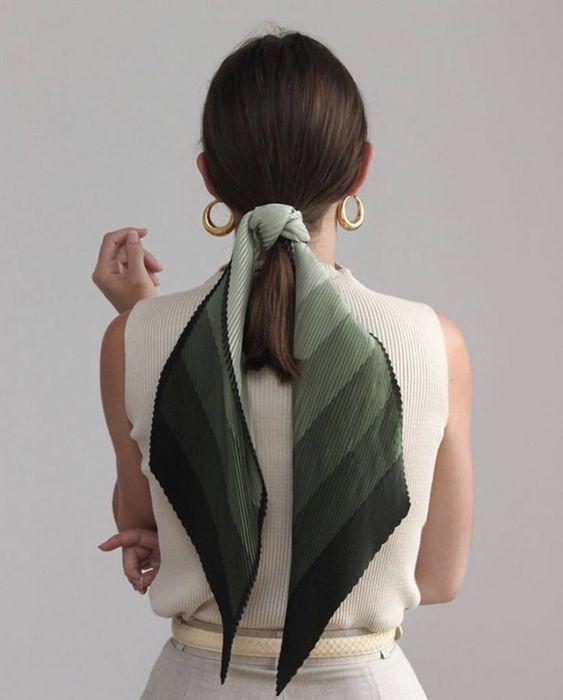 Simple ponytail head scarf