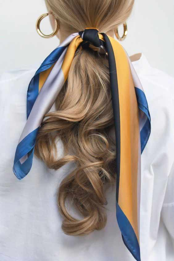 Ponytail head scarf hairstyle