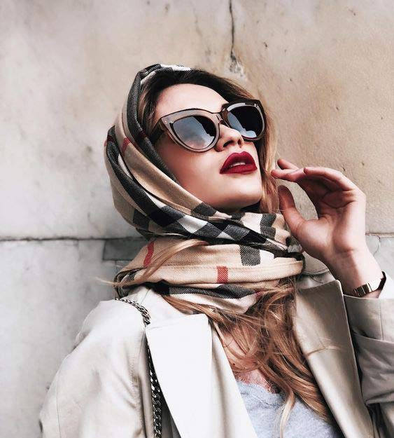Head scarf with sunglasses