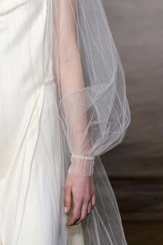 White net puff sleeve dress