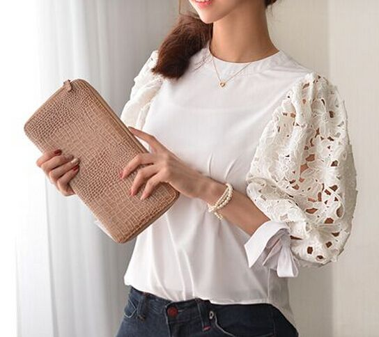 White net puff sleeve design