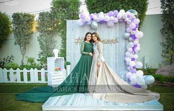 green and skin silk bridal shower dress