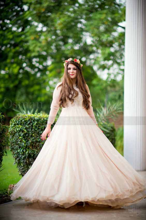 White long frock for bride to be