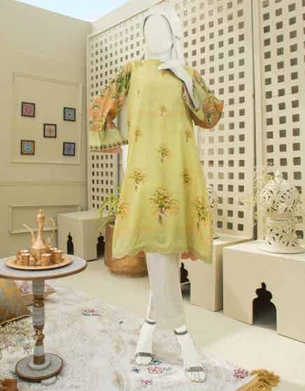Yellow kurta design