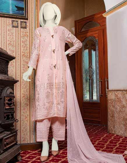 Pink three piece dress