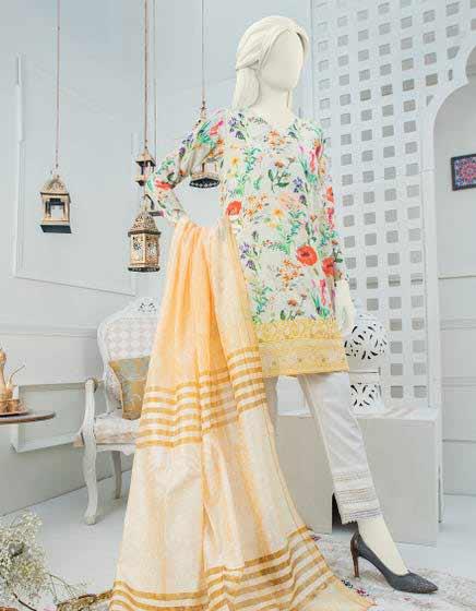 Floral unstitched dress