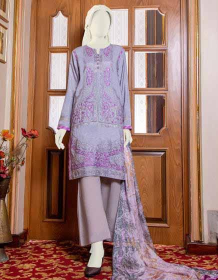 Purple shirt with dupatta
