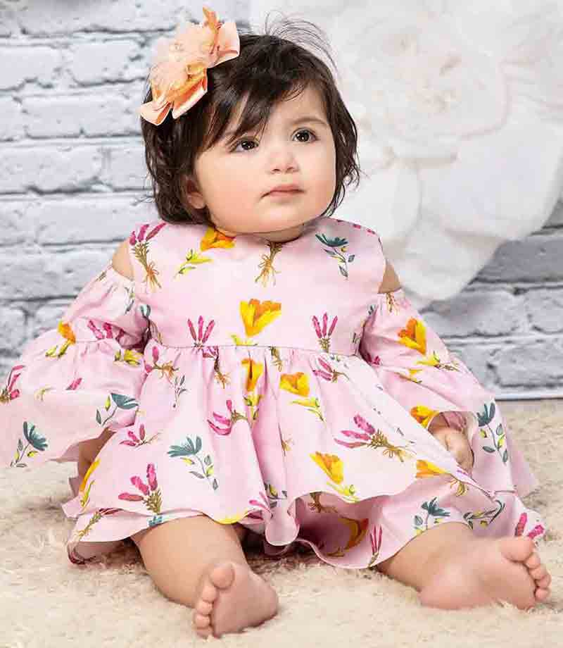 Floral frock for little girls