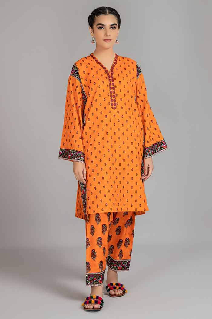 Orange shirt with matching trousers