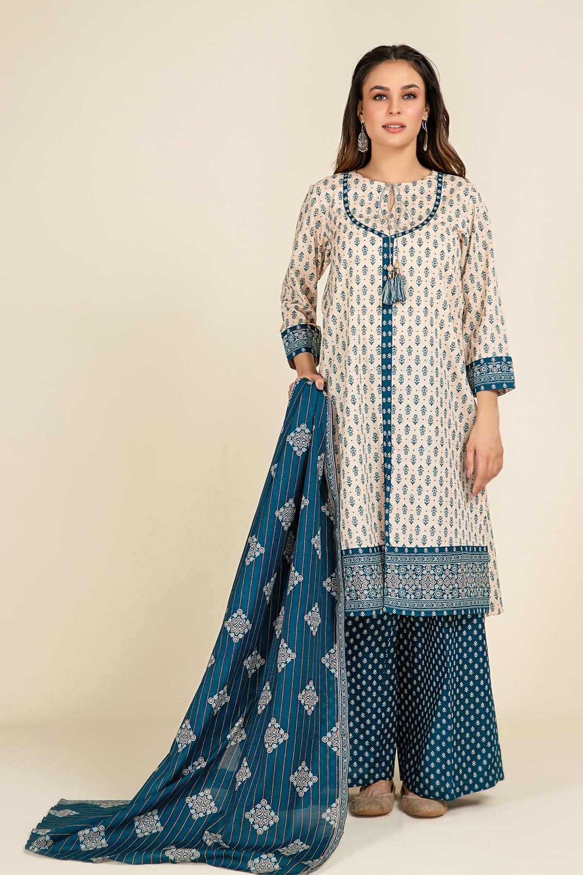 Three piece dress stitching