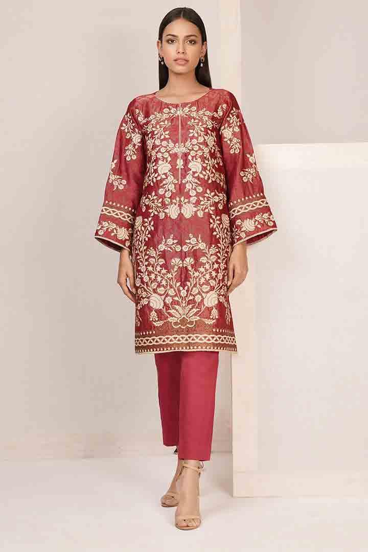 Heavy red eid dress