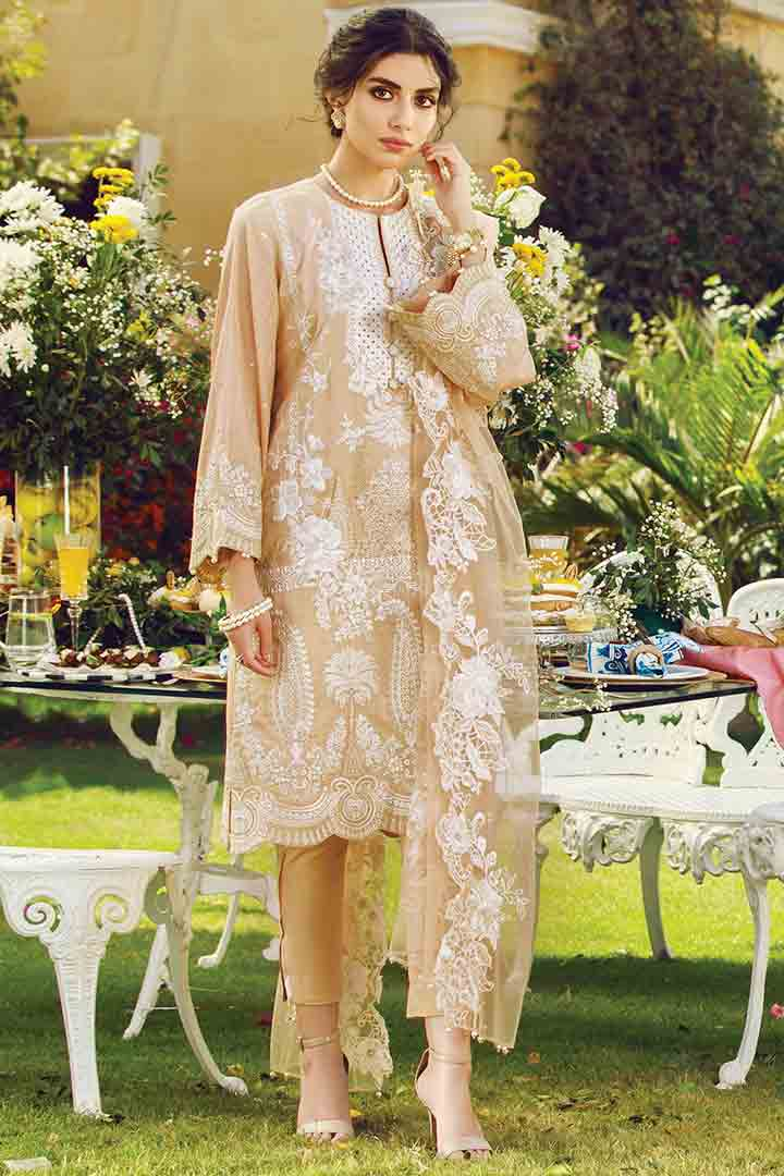 Embroidered three piece pret collection