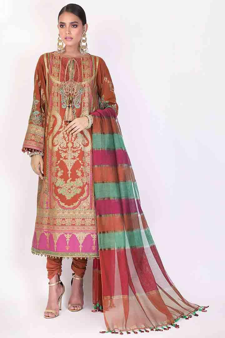 Alkaram long dress