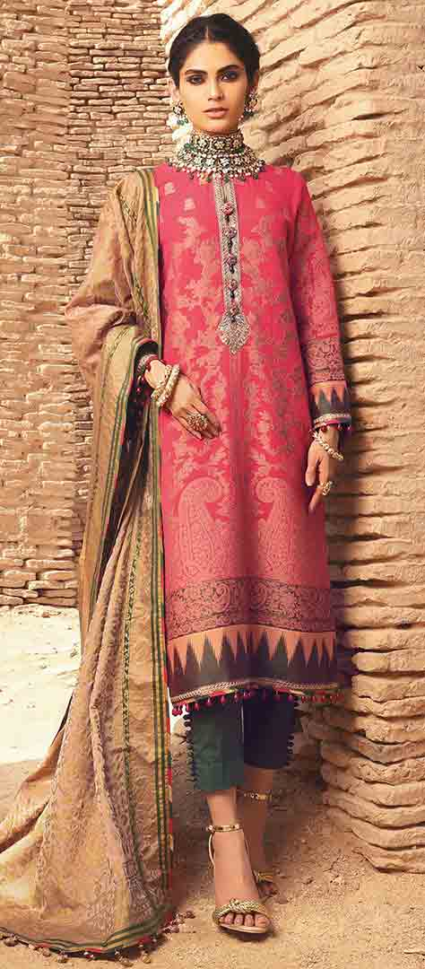 Red dress design for eid