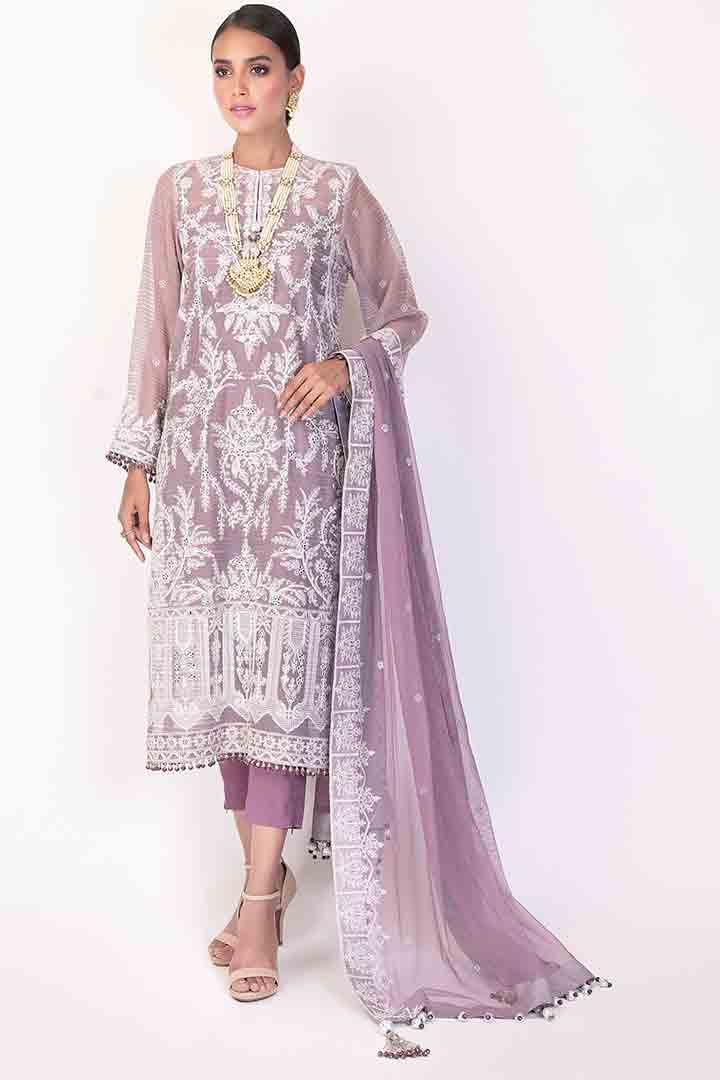 Light purple eid dress design