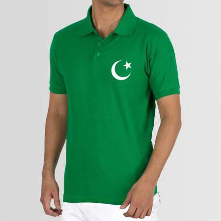 Plain green shirt with moon star