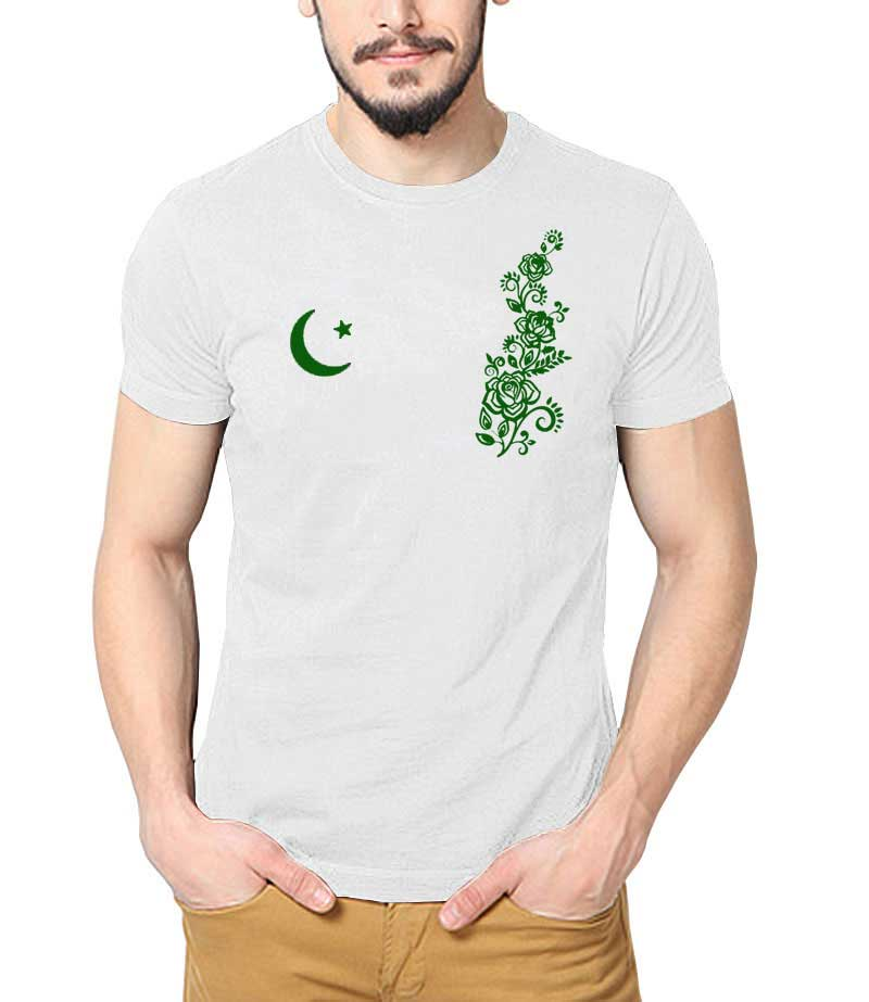 White shirt with moon and star