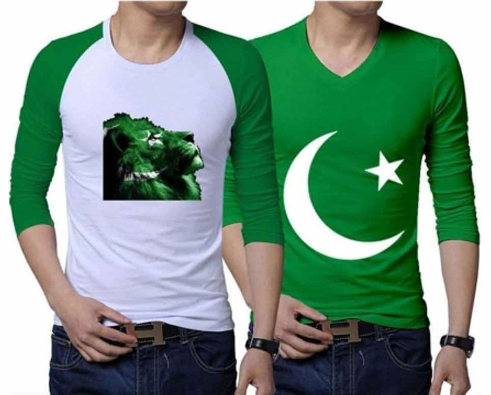 Green and white Tees for boys
