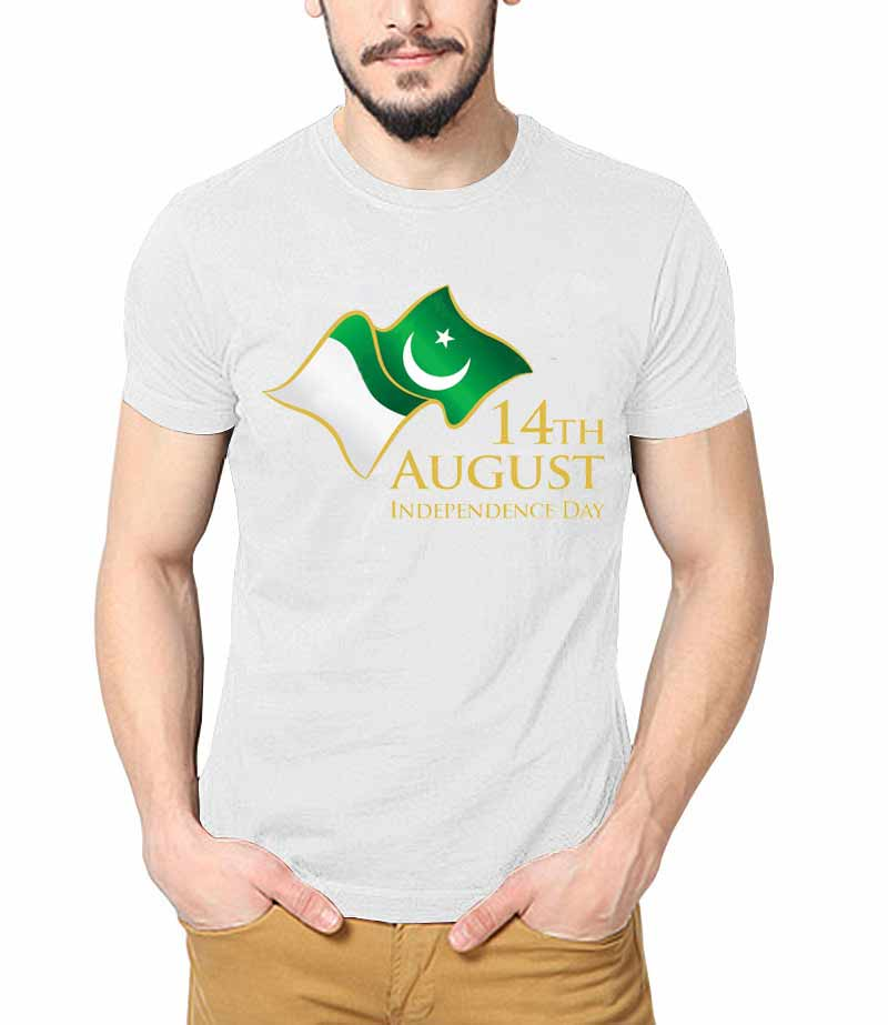 White shirt for independence day