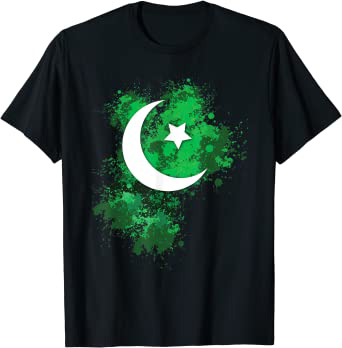 Black shirt with moon and star